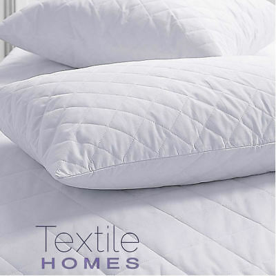 Quilted Mattress/Pillow Protector Fitted Bed Sheets Breathable Combed All Sizes