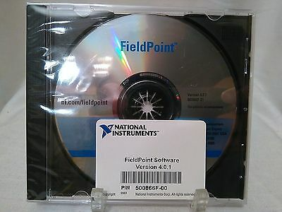 National Instruments FieldPoint Software Version 4.0.1 500866F-00 CD New Sealed