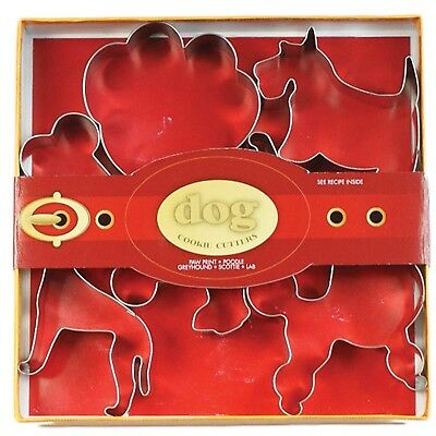 Fox Run Dogs Cookie Biscuit Pastry Dough Cutters Jello Craft Molds, 6-Piece Set