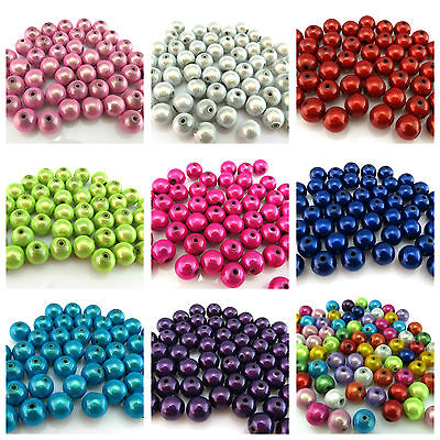 40 8mm Illusion Miracle Round Acrylic Beads For Jewellery Making Uk Er