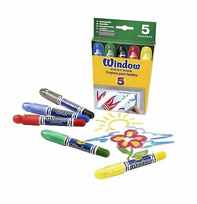 Crayola Washable Window Crayons  Assorted Colours -5 Pack