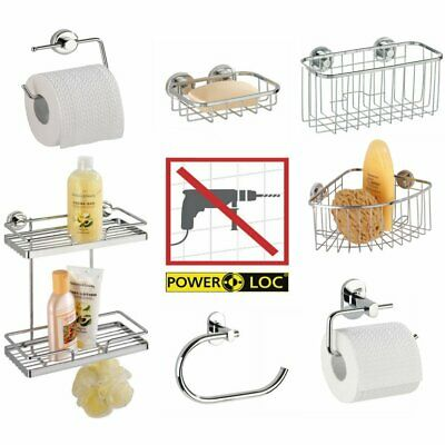 Power Loc Stick On Adhesive Bathroom Accessories No Drilling Required