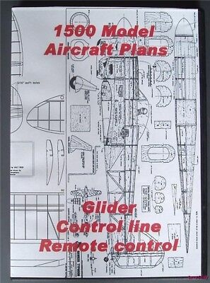 DVD ROM of 1500 Flying model aircraft plans Balsa wood