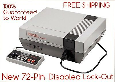 REFURBISHED Nintendo NES Console System, New 72-pin, Lockout Disabled, WORKS