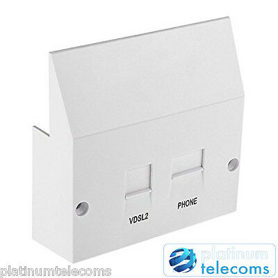 ADSL and VDSL2 Broadbad High Speed faceplate filter for BT NTE5A master sockets
