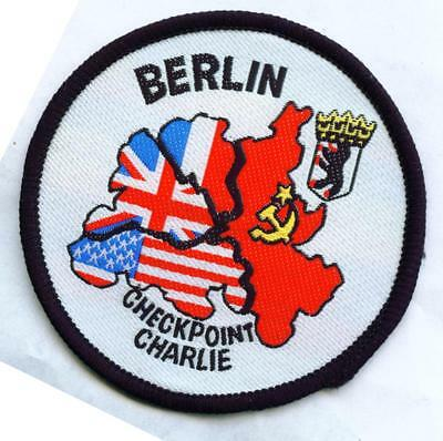 Checkpoint Charlie Berlin Aufnäher  Patch
