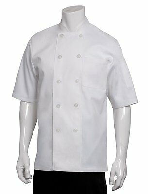 Chef Works Pcss Volnay Short Sleeve Basic Chef Coat, White, X-large