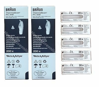 800x Braun Ear Probe Covers - Thermoscan Filter Caps - PC20 ***Fast Postage***