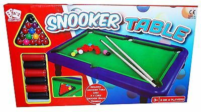 2 Player Mini Table Top Pool Set Childrens Cue Balls Toy Snooker Game Gift Set