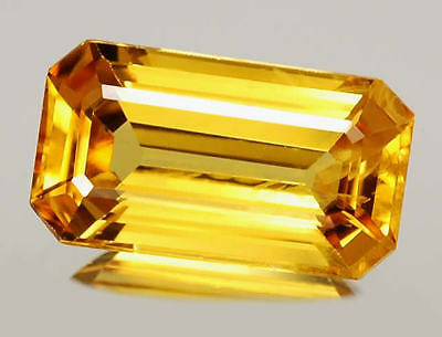 Natural Australian Citrine - Emerald Cut - 5x3mm