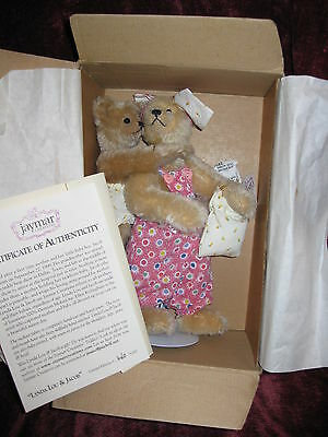 Jaymar Creations Lynda Lou & Jacob #460 / 15,000 Mohair Bear Limited Edition NEW