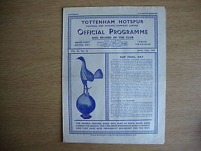 1947/8 Tottenham Hotspur Spurs v Newcastle United - GOOD CONDITION