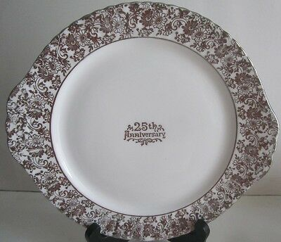 Royal Windsor Serving Plate Congratulations 25th Anniversary Bone China England