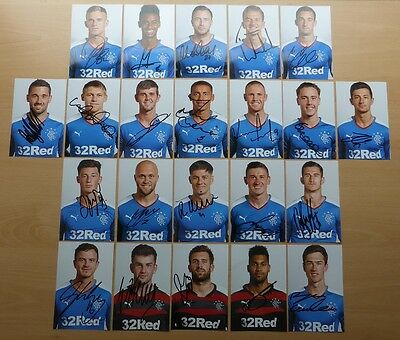 2015-16 Rangers Signed Player Photographs - Miller, Waghorn, Foderingham +++