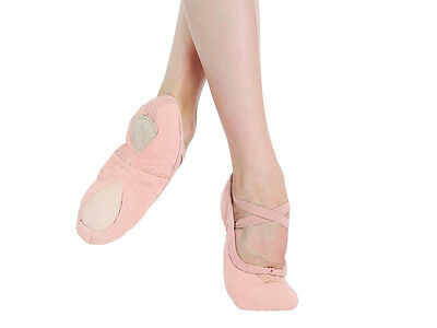 Pink pro canvas capezio 2039 split sole ballet shoes -all sizes