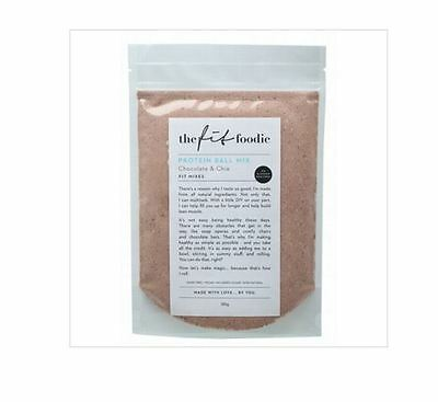 THE FIT FOODIE Protein Ball Mix Chocolate & Chia 2 x 185g
