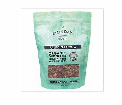 MONDAY FOOD CO Paleo Granola Pecan Apricot & Vanilla - 300g
