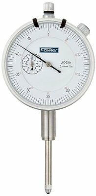 "Fowler 52‑520‑129 White Dial Face AGD Indicator 1"" Travel"