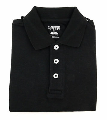 French Toast Childrens Short Sleeve Pique Black School Uniform Polo Shirt Size 5