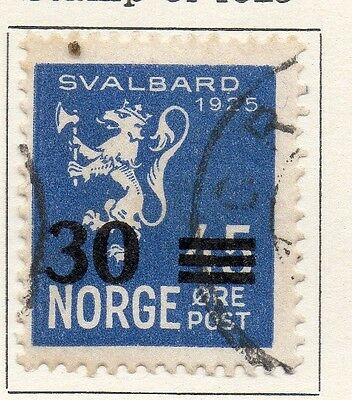 Norway 1925 Early Issue Fine Used 30ore. Surcharged 055046
