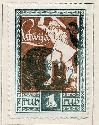 Latvia 1919 Early Issue Fine Mint Hinged 1R. 055072