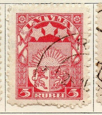 Latvia 1921 Early Issue Fine Used 5R. 055109