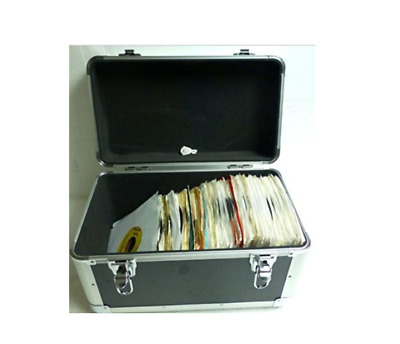 """7"""" Vinyl Record Single Compartment Euro Style Case (holds 200 plus 7""""45rpm)"""