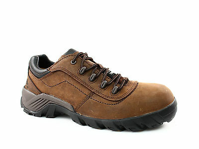 Caterpillar Terbium CT EH  Men's Work Safety Brown Leather Shoes