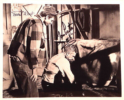 Green Acres Autograph 8x10 Photo Signed by Tom Lester & Eddie Albert (LHAU-334)