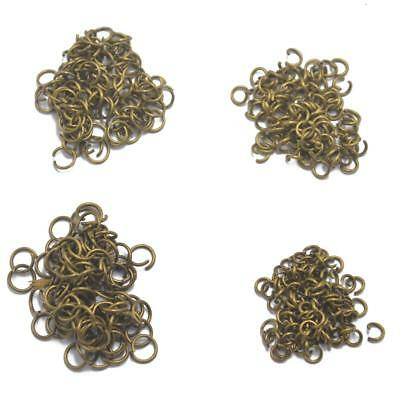 400 Antique Bronze Jewelry Open Jump Rings Findings Craft Connector Beading