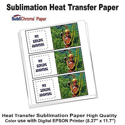 "Sublimation Paper  use with Digital EPSON Printer 50 Sheets  8.5"" x 11"""