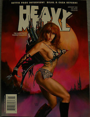 Heavy Metal Comic Magazine January 1998 Vol 21 #6
