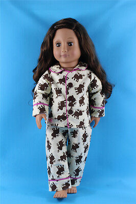2in1 Set Lovely Sleeping wear pajamas Outfit Clothes For 18'' American Girl Doll