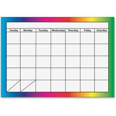 Ashley 1-month Dry Erase Magnetic Calendar - Monthly - 1 Month - Multicolor -
