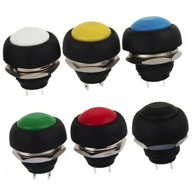 Mini 12mm Waterproof Momentary ON/OFF Push Button Round Switch NEW - UK seller