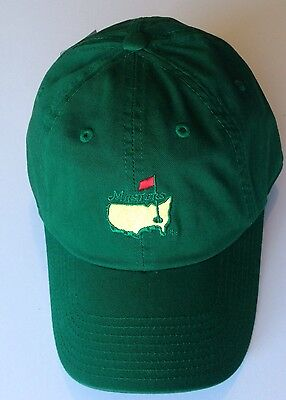 MASTERS Golf GREEN Caddie Style HAT 2017 Masters Augusta National Pga