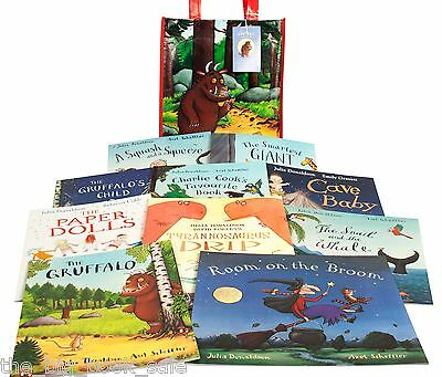 Julia Donaldson Collection - 10 Books in New Picture Bag - Includes Gruffalo