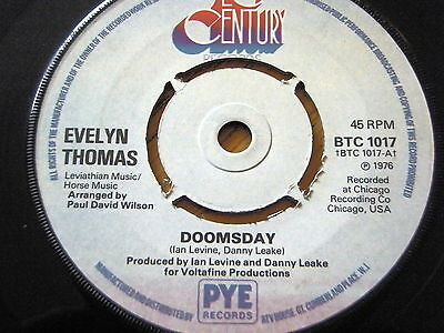 "Evelyn Thomas - Doomsday  7"" Vinyl"