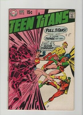 Teen Titans #22 - Neal Adams Writing & Art - 1969 (Grade 6.5) WH