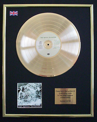 Rage Against The Machine Cd Gold Disc Record Free P&p!
