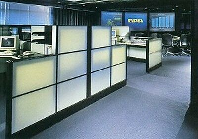 """HERMAN MILLER ETHOSPACE 42""""Wx 16""""H Wall White Glass Transluant Tile for CUBICLES"""