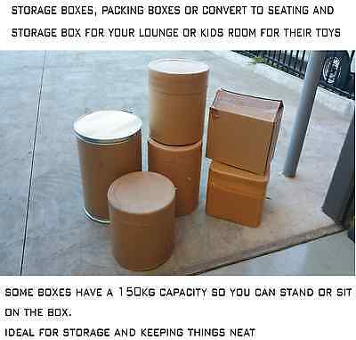 Cardboard Boxes & Drums Strong, Removalist Storage, Packing, Moving, Toy Box