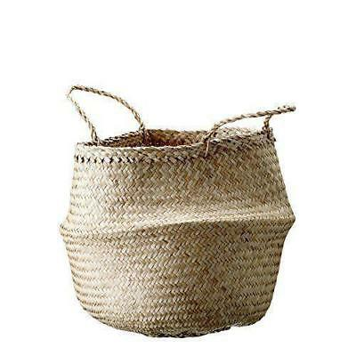 Bloomingville Natural Seagrass Basket with Handles, Indoor Planter