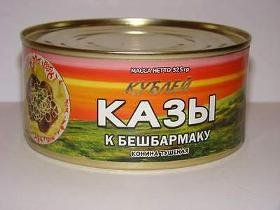 Canned true nomadiс stewed horse meat Kazy from Kazakhstan 325g