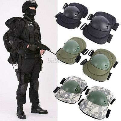 Military Elbow Knee Protective Tactical Pads Paintball Skate Airsoft Combat 4Pcs