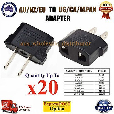 AU AUS NZ to USA US Canada Travel Power Plug Convertor Electric Adapter Socket
