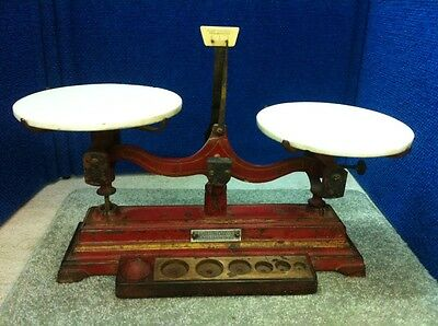 Vintage Fisher Scientific Scale With Milk Glass Pan Balance