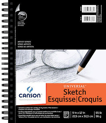Canson Universal Sketch Pad 9X12