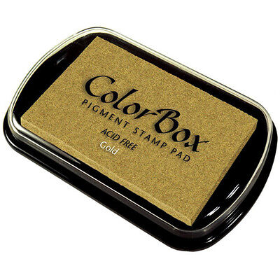 Rubber Stamp Ink Pad Gold Pigment