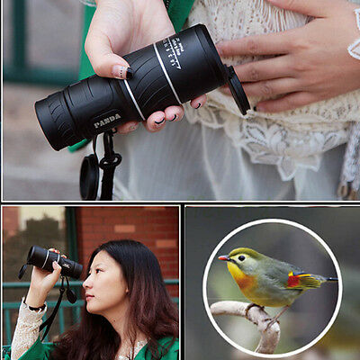 Night Vision 40x60 HD Optical Monocular Travel Hunting Camping Hiking Telescope